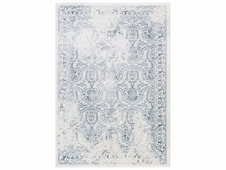 Surya Contempo Denim / Light Gray White Runner Area Rug