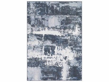 Surya Contempo Denim / Medium Gray White Light Runner Area Rug