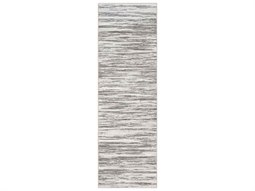 Contempo Light Gray / White Charcoal Runner Area Rug