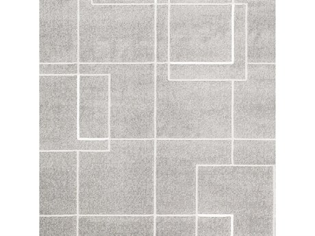 Surya Contempo Medium Gray / Light White Square Sample