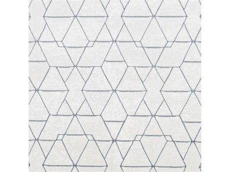 Surya Contempo White / Light Gray Denim Square Sample