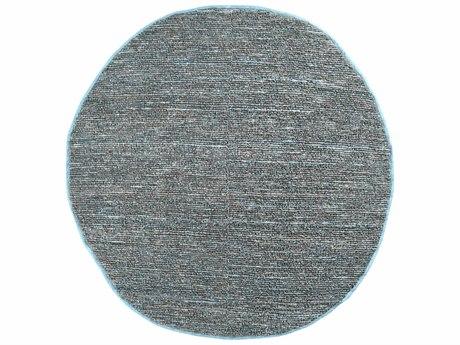 Surya Continental 8' Round Silver Gray Area Rug