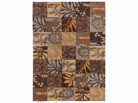 Surya Cosmopolitan Rectangular Brown Area Rug SYCOS8817REC