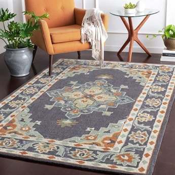 Surya Cosmopolitan Charcoal / Sage / Cream Rectangular Area Rug