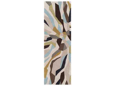 Surya Cosmopolitan 2'6'' x 8' Rectangular Dark Brown, Olive & Sage Runner Rug