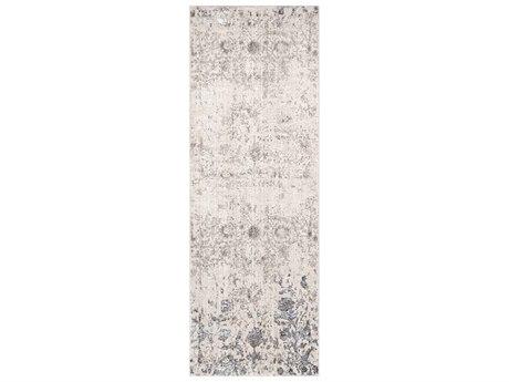 Surya Crescendo Khaki / Beige Dark Brown Silver Gray Runner Area Rug