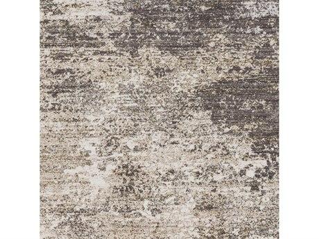 Surya Crescendo Beige / Medium Gray Charcoal Dark Brown Camel Square Sample