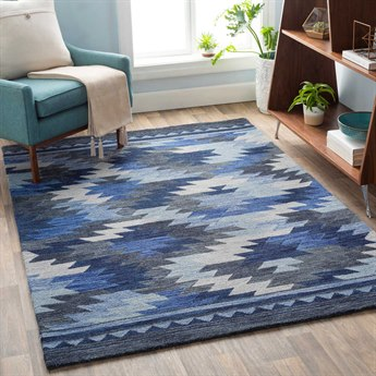 Surya Dena Teal / Bright Blue / Denim Rectangular Area Rug