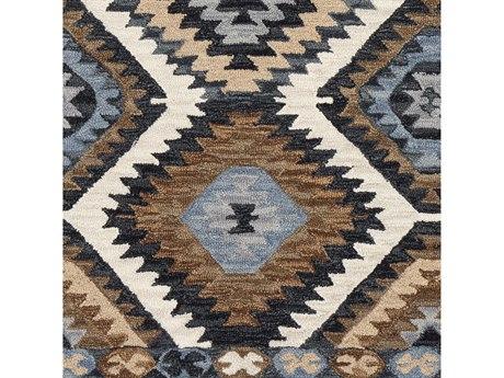 Surya Dena Medium Gray / Cream / Denim / Dark Brown Square Sample