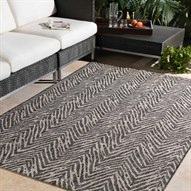 Eagean Taupe / Black Rectangular Area Rug