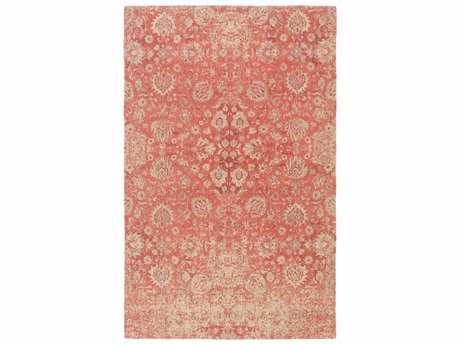 Surya Edith Rectangular Coral, Cream & Rose Area Rug SYEDT1018REC
