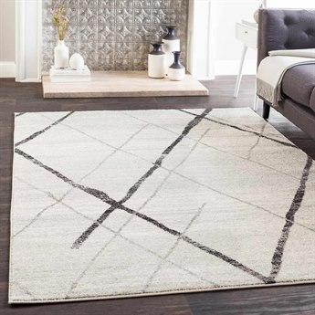 Surya Elaziz Light Gray / Medium Black White Rectangular Area Rug