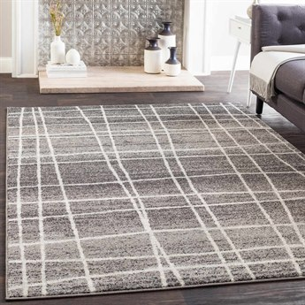 Surya Elaziz Medium Gray / Light Black White Rectangular Area Rug