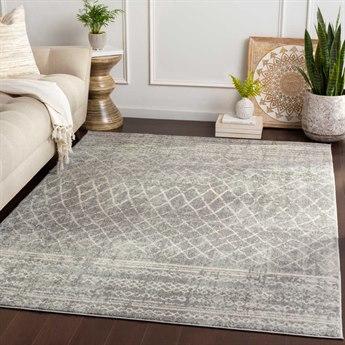 Surya Elaziz Medium Gray / Light White Rectangular Area Rug