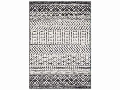 Surya Elaziz Black / Light Gray Medium White Runner Area Rug