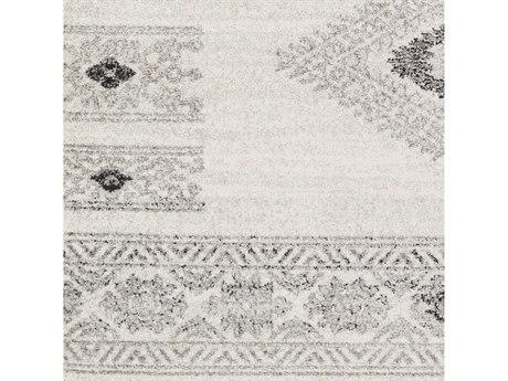 Surya Elaziz Medium Gray / Light White Black Square Sample