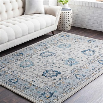 Surya Elise Navy / Taupe Medium Gray Wheat Teal Black Rectangular Area Rug