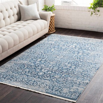 Surya Ephesians Sky Blue / Saffron Aqua Cream Beige Medium Gray Rectangular Area Rug