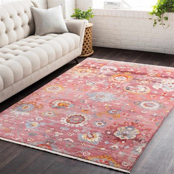 Surya Ephesians Pale Pink / Rose Saffron Burnt Orange Medium Gray Silver Aqua Cream Beige Black Rectangular Area Rug