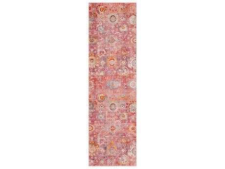 Surya Ephesians Pale Pink / Rose Saffron Burnt Orange Medium Gray Silver Aqua Cream Beige Black Runner Area Rug
