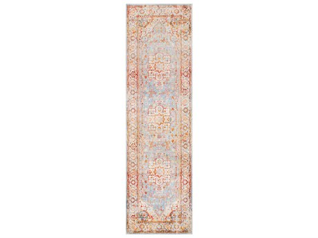 Surya Ephesians Burnt Orange / Saffron Rose Cream Beige Medium Gray Silver Pale Pink Black Runner Area Rug