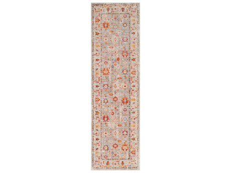 Surya Ephesians Saffron / Burnt Orange Medium Gray Silver Beige Cream Pale Pink Rose Aqua Black Runner Area Rug