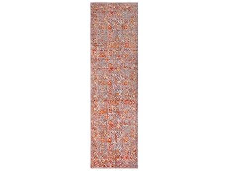 Surya Ephesians Pale Pink / Silver Gray Burnt Orange Rose Saffron Cream Beige Aqua Bright Red Runner Area Rug