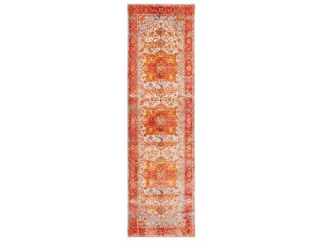 Surya Ephesians Rose / Pale Pink Cream Saffron Burnt Orange Bright Red Beige Medium Gray Runner Area Rug