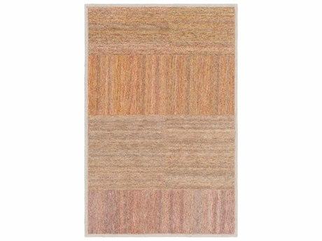 Surya Equilibrium Saffron / Bright Orange Red Dark Brown Purple Navy Khaki Garnet Pink Ivory Taupe Rectangular Area Rug