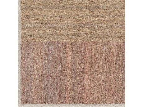Surya Equilibrium Saffron / Bright Orange / Dark Brown Square Sample