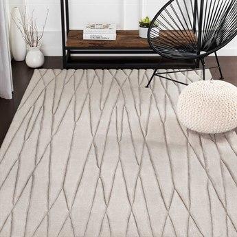Surya Etching Medium Gray Rectangular Area Rug