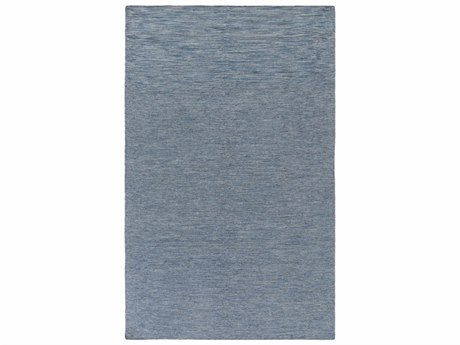 Surya Everett Rectangular Dark Blue, Black & Light Gray Area Rug