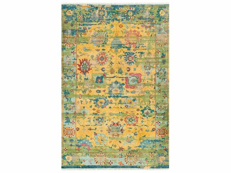 Surya Festival Rectangular Yellow & Green Blue Area Rug SYFVL1005REC