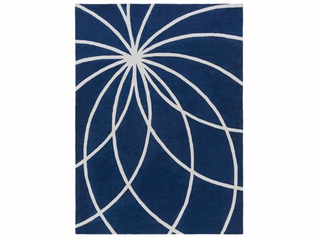 Surya Forum Rectangular Blue Area Rug