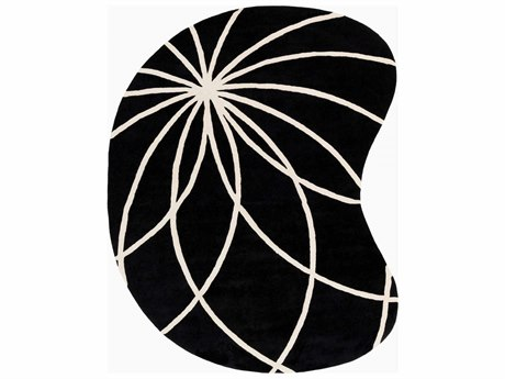 Surya Forum Kidney Black Area Rug SYFM7072KID