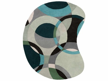 Surya Forum Kidney Green Area Rug