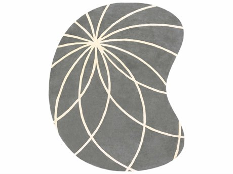 Surya Forum Kidney Gray Area Rug SYFM7173KID