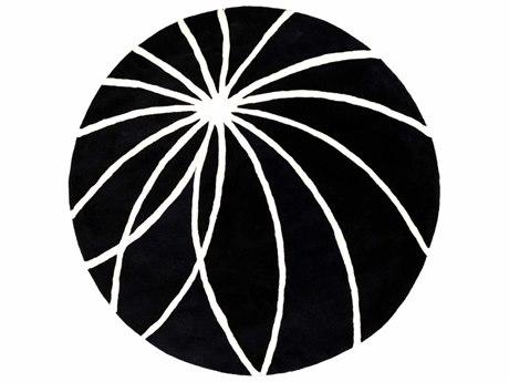 Surya Forum Round Black Area Rug
