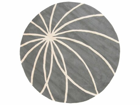 Surya Forum Round Charcoal & Cream Area Rug SYFM7173ROU