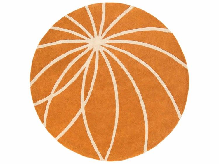 Surya Forum Round Orange Area Rug Syfm7175rou