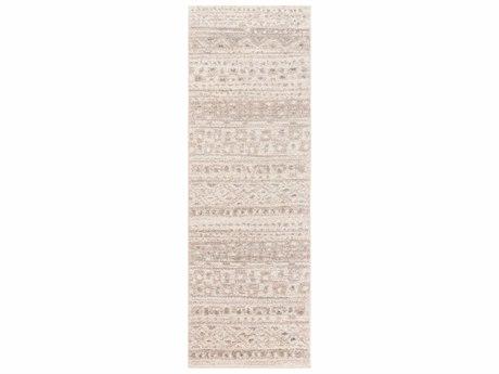 Surya Fowler 2'6'' x 8' Rectangular Light Gray, Ivory & Medium Gray Runner Rug