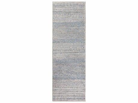 Surya Fowler 2'6'' x 8' Rectangular Medium Gray, Bright Blue & Black Runner Rug