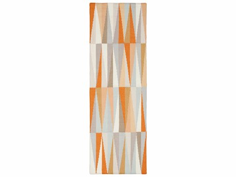 Surya Frontier 2'6'' x 8' Rectangular Burnt Orange, Ivory & Khaki Runner Rug
