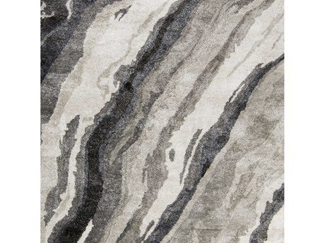 Surya Gemini Charcoal / Medium Gray Light Ivory Square Sample