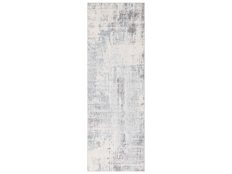 Surya Genesis Silver Gray / White Pale Blue Medium Denim Runner Area Rug