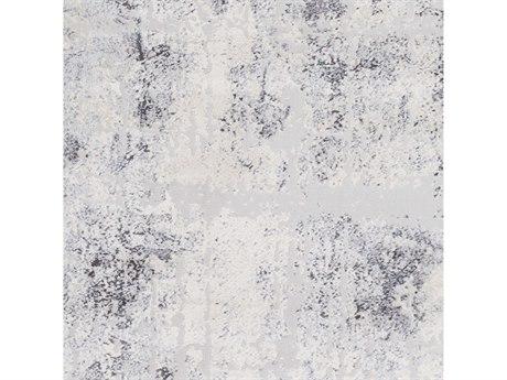Surya Genesis Silver Gray / White Pale Blue Medium Denim Square Sample