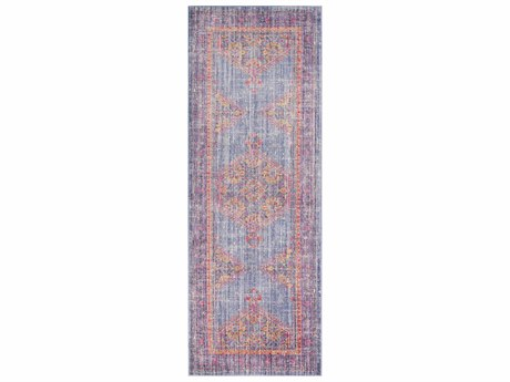Surya Germili Violet / Bright Purple Saffron Pink Runner Area Rug