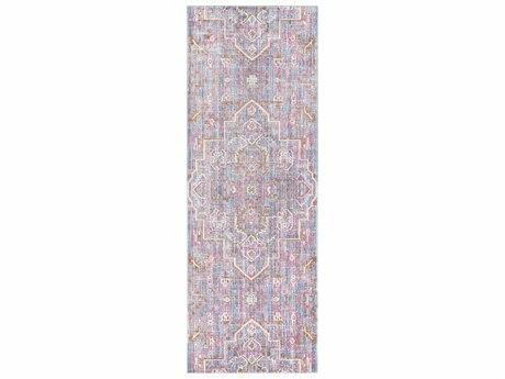 Surya Germili Bright Purple / Violet Dark Brown Cream Runner Area Rug