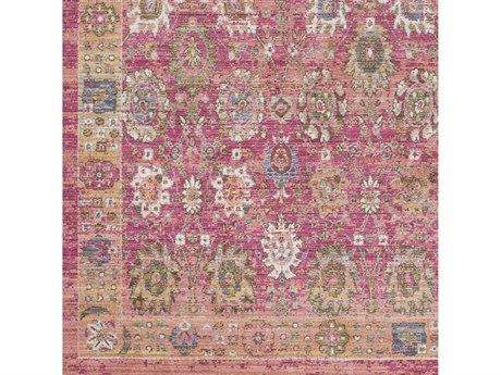 Surya Germili Bright Pink / Pale Yellow Dark Blue Taupe White Square Sample