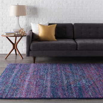 Surya Harput Rectangular Purple, Cobalt & Aqua Area Rug